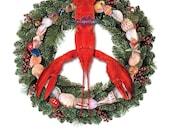 Lobster Peace (eight Christmas cards)