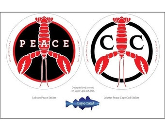 Lobster Peace Stickers