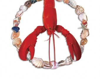 Peace Lobster (10 notecards)