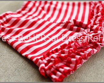 Knit pink and red double ruffle shorts 12 18 24 2 3 4 5 6 7 8