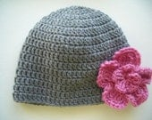 Womens winter hat, crochet hat with flower, crochet beanie, winter accessories
