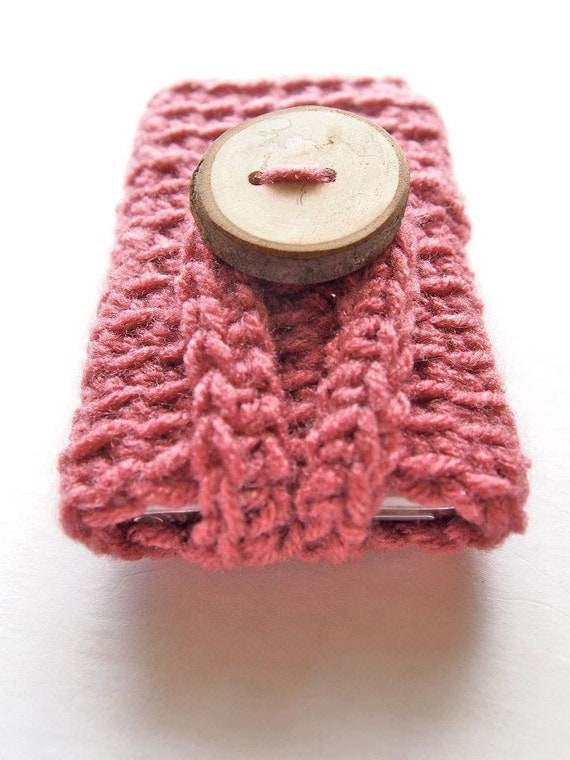 Crochet iPhone 4 case, iPod cover, phone case, phone cover, gadget accessories