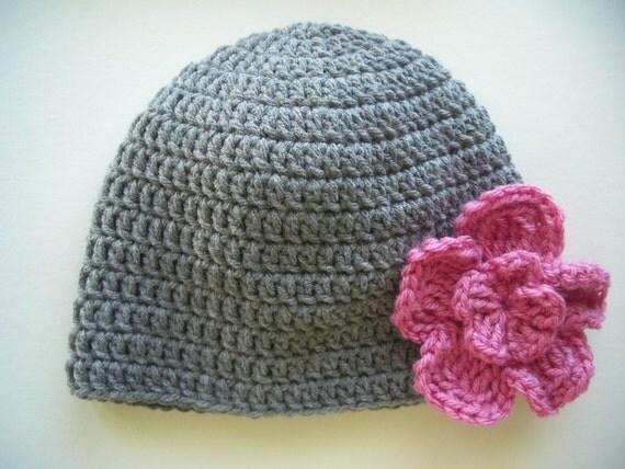Womens winter hat, crochet hat with flower, crochet beanie, winter accessories