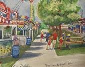 Hudsonville Fair, 2011  8 X 10 Watercolor Print by Arlene Helder