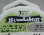 Beadalon 7 Strand Beading Wire 100 foot Spool .010 .012 .015 .018 .021 .024 .026 You Choose Diameter