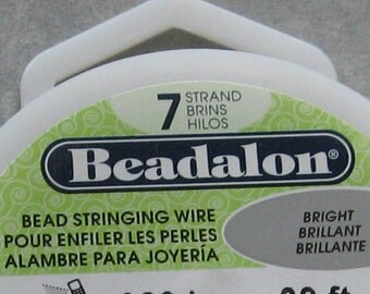Beadalon 7 Strand Beading Wire 100 foot Spool .010 .012 .015 .018 .021 .024 .026 You Choose Diameter