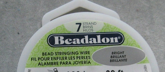 Beadalon 7 strand Beading Wire 30 foot spool Stainless Steel w/ Clear Coat Choose your Diameter .010, .012, .015, .018, .021, .024