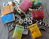 ADULT SIZE Shakespeare Books Fringe Charm Bracelet