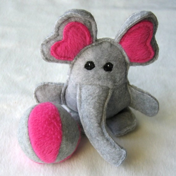Sale Ed The Elephant And His Ball Organic Catnip Bell Cat Toys