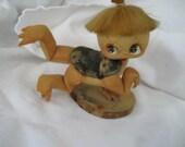 VINTAGE Cloth Sculptured Japanese Kappa Water Spirit Doll Figure
