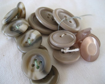 4 Sets of VINTAGE Gray Plastic BUTTONS