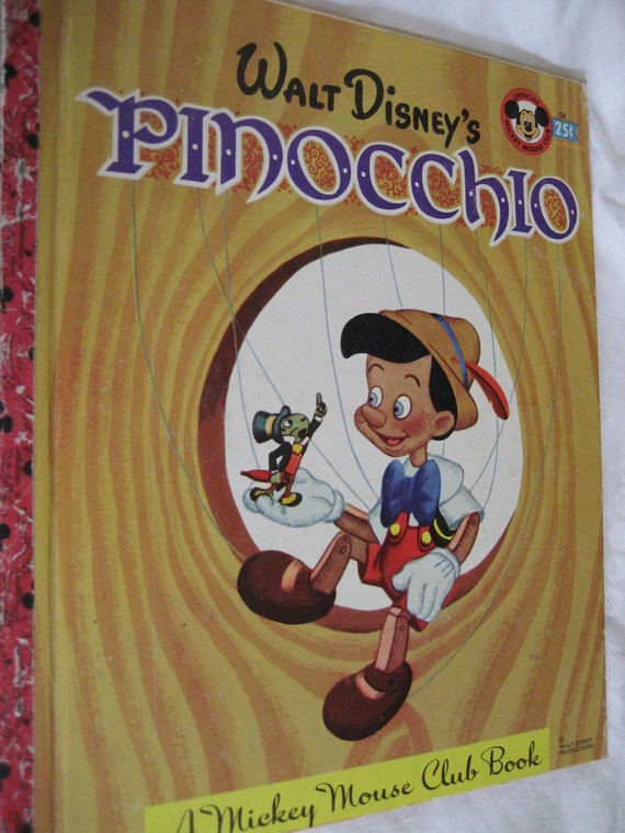 VINTAGE 2nd Edition 1948 Walt Disney's PINOCCHIO Little Golden Book