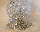 Real German Glass Glitter Pure Silver Shards 1 oz 40 Grit