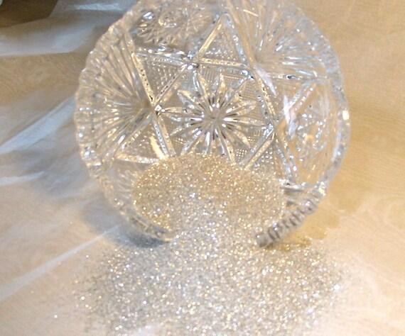 Fine Pure Silver German Glass Glitter 80 Grit 4 Ounces