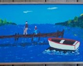 Fishin'  Folk Art