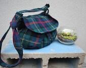 Mable Bag Recycled Plaid Wool Skirt