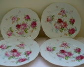 Vintage Beautiful Rose dinner plates