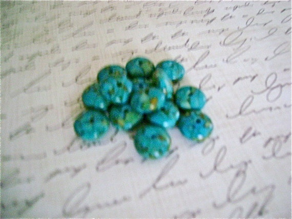 Faux Turquoise Rondell Beads, 12mm