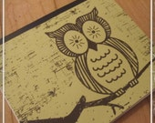 Owl Recycled Handmade Notebook