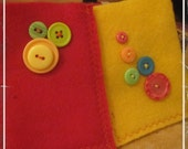 Pair of felt gift card or business card holders, pockets, pouches