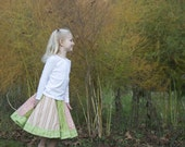 Pink and Green Twirly Circle Skirt 4T/5T