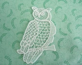 Lace Applique Owl on Branch