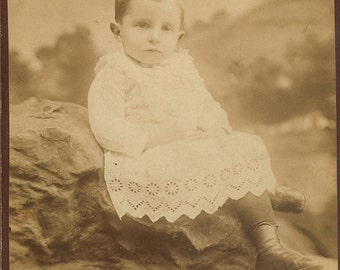Sad Boy...Antique Cabinet Card...