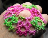 Peek A Boo Breast Petals  Needle Tatted Lace Pasties with Adhesive