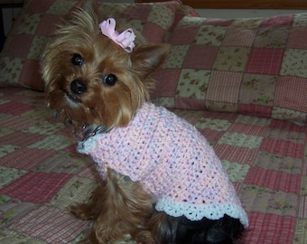 SIMPLY DARLING  Dog Sweater Crochet Pattern