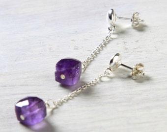 """Amethyst Earrings """"Courtney""""  Purple Earrings"""