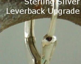 Sterling Silver Leverback Upgrade