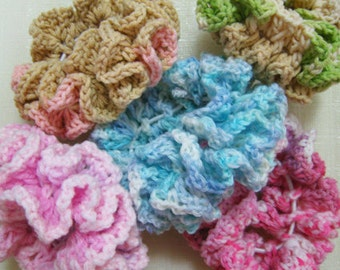 Double Ruffle Crochet Scrunchie Pattern