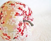Red Apple Ornament decoupage origami pink cream cherry blossoms floral