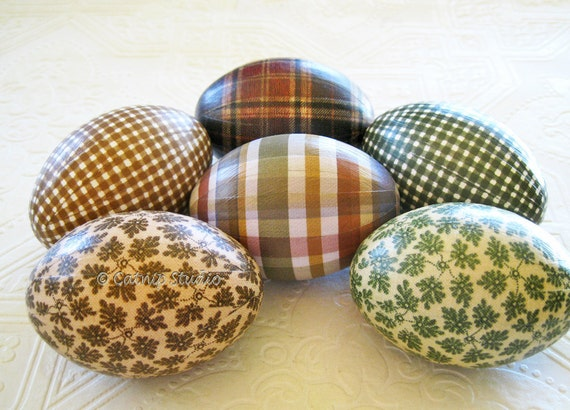 Rustic Easter Eggs, Woodland Easter Eggs, Easter eggs, masculine Easter eggs, decoupage eggs, lodge Easter Eggs, green and brown