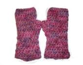 SALE Crushed berries - Alpaca fingerless gloves