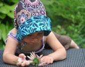 UB2  JEWEL a lavish sun hat in rich, saturated, gemstone hues exclusively by The Urban Baby Bonnet--- size small
