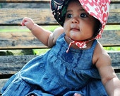 UB2  BRASILIA a whimsical & richly hued tropical rainforest sun bonnet by The Urban Baby Bonnet--- size large