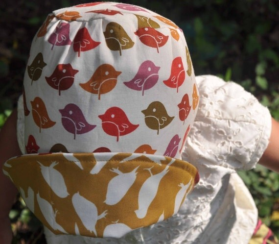 UB2  SUNSET CHIC a sleek, chic sun hat celebrating the golden, earthy harvest of autumn by The Urban Baby Bonnet All Sizes