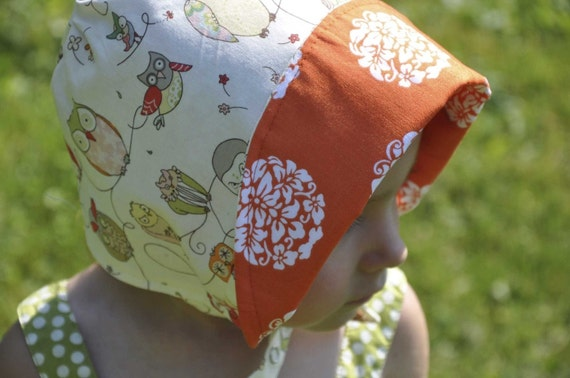 UB2 OWLIE a hoot of a sun hat just for you and your little baby bird by The Urban Baby Bonnet-- size extra small