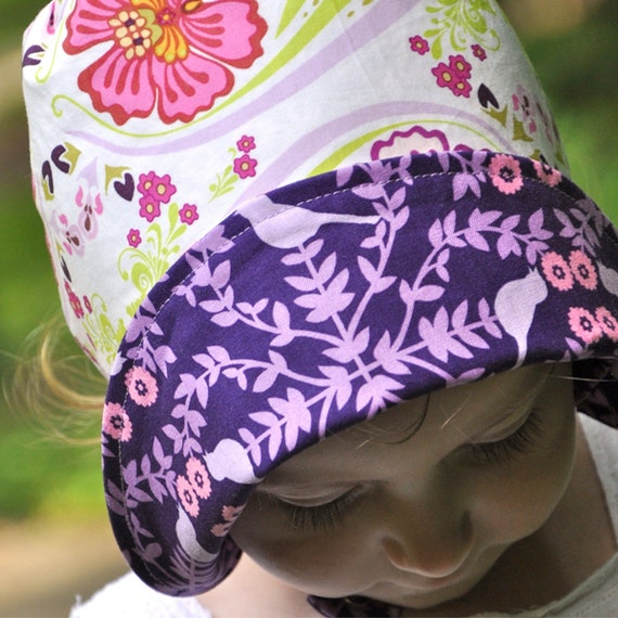 UB2  VIOLETS & VIREOS flirty, feminine little peeps peek through a fabulous, french garden by The Urban Baby Bonnet--- size small