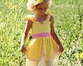 YELLOW Princess dress from Lover Dovers handmade costume Practical princess dress