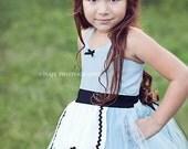 ALICE IN WONDERLAND dress  retro Alice costume tutu dress for girls special occasion or tea party  costume