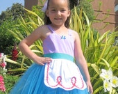 Mermaid dress Tutu princess dress for  girls birthday party dress portrait or special occasion
