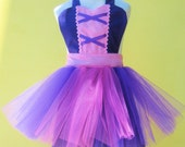 apron RAPUNZEL dress up  TUTU kids apron for girls fun for special occasion or birthday party dress up costume