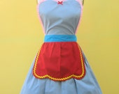 apron DUMBO Circus apron great party hostess gift womens full apron that is vintage inspired