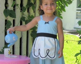 ALICE in WONDERLAND dress, Alice dress, Alice in Wonderland costume,  girls tea party dress, Alice in Wonderland  party, SALE