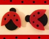 Felt Die Cuts Ladybug Red and Black Set of 12