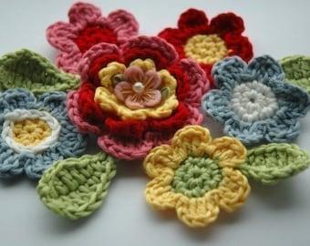 Crochet Flower Posy in Fresh Floral Shades