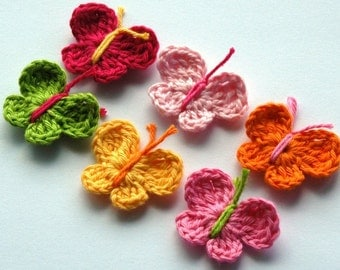 Crochet Butterflies Summer Brights