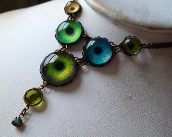 The Enchanted Forest -- Handmade Brass Necklace